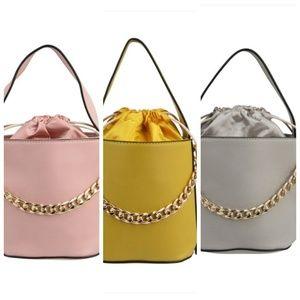 Mini bucket handbag with strap